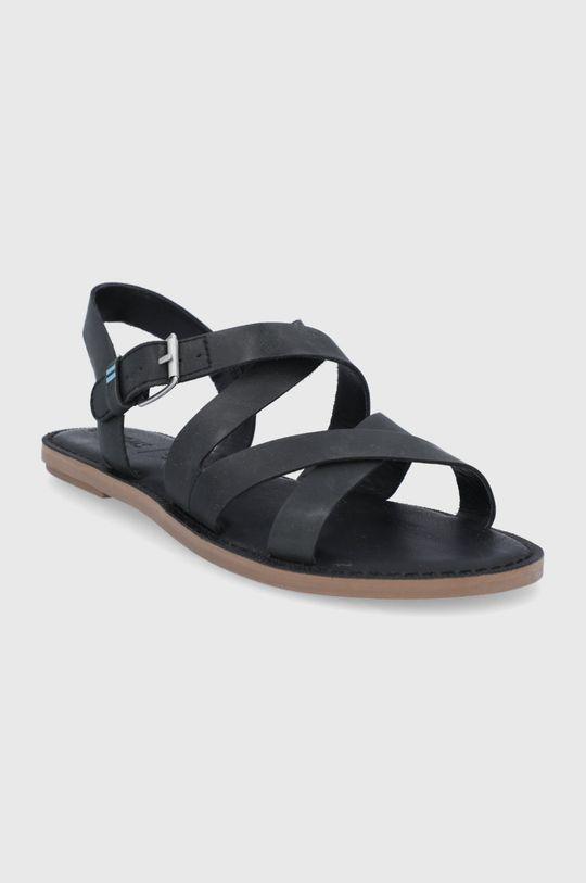 Toms - Sandały skórzane Sicily czarny