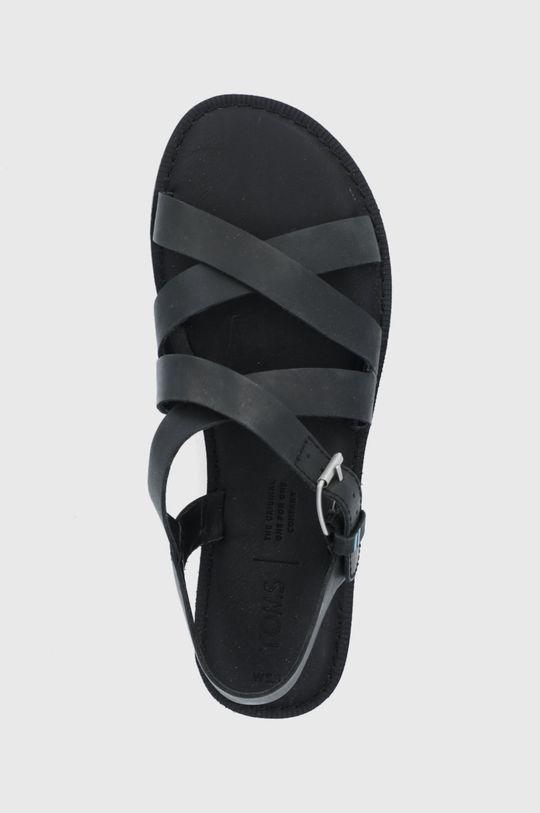 czarny Toms - Sandały skórzane Sicily