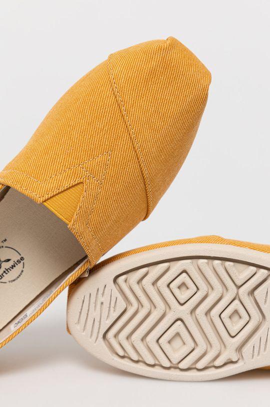 żółty Toms - Espadryle Alpargata