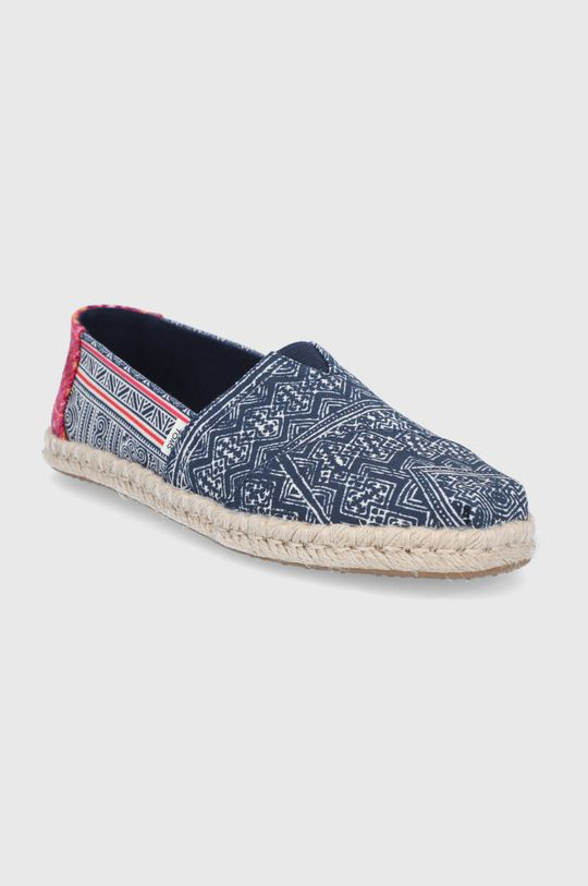 Toms - Espadryle Floral Hmong granatowy