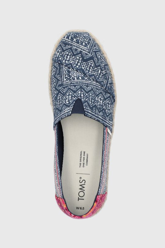granatowy Toms - Espadryle Floral Hmong