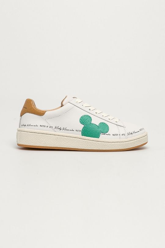 biały MOA Concept - Buty skórzane x Disney Damski