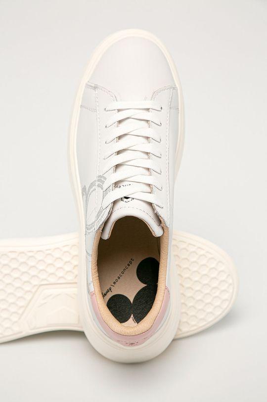 biały MOA Concept - Buty skórzane x Disney