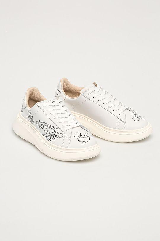 MOA Concept - Kožená obuv x Disney biela