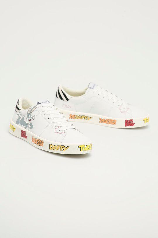 MOA Concept - Kožené boty x Looney Tunes bílá