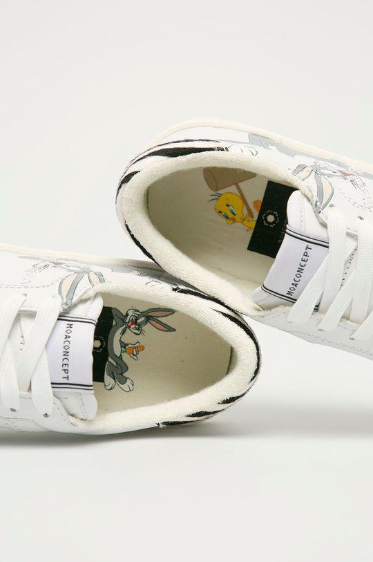 bílá MOA Concept - Kožené boty x Looney Tunes