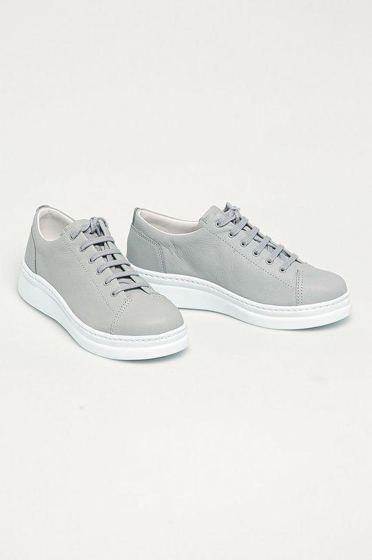 Camper - Kožené boty Runner Up šedá