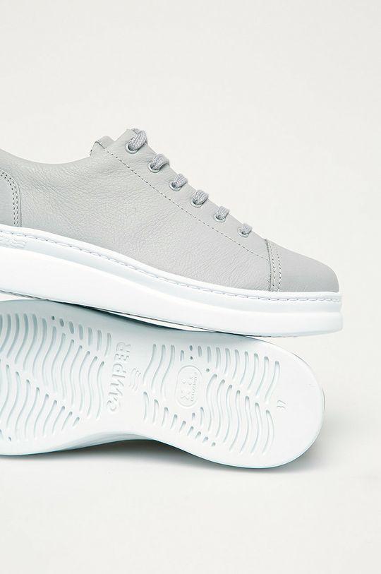 šedá Camper - Kožené boty Runner Up