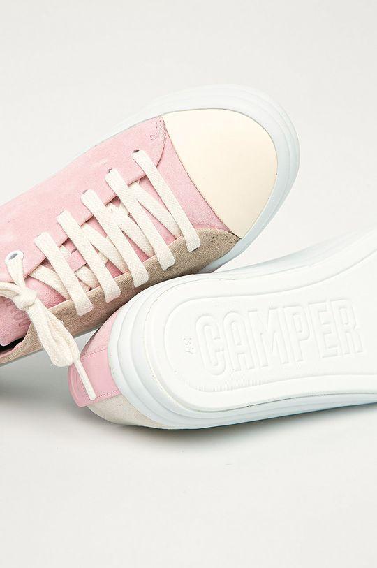 ružová Camper - Kožené tenisky Twins