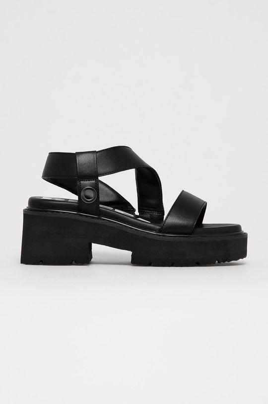 čierna Buffalo - Sandále Dámsky