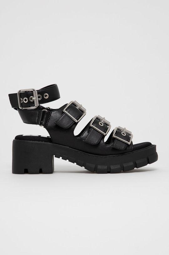 čierna Buffalo - Sandále Raja Dámsky