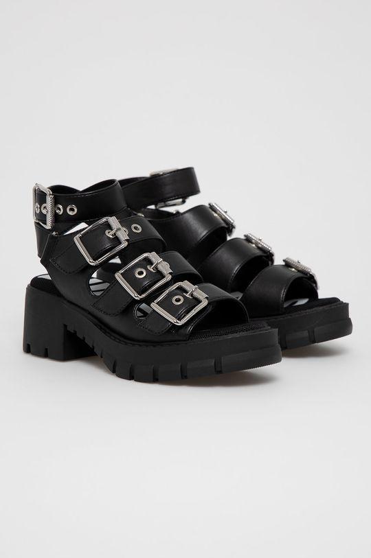 Buffalo - Sandále Raja čierna