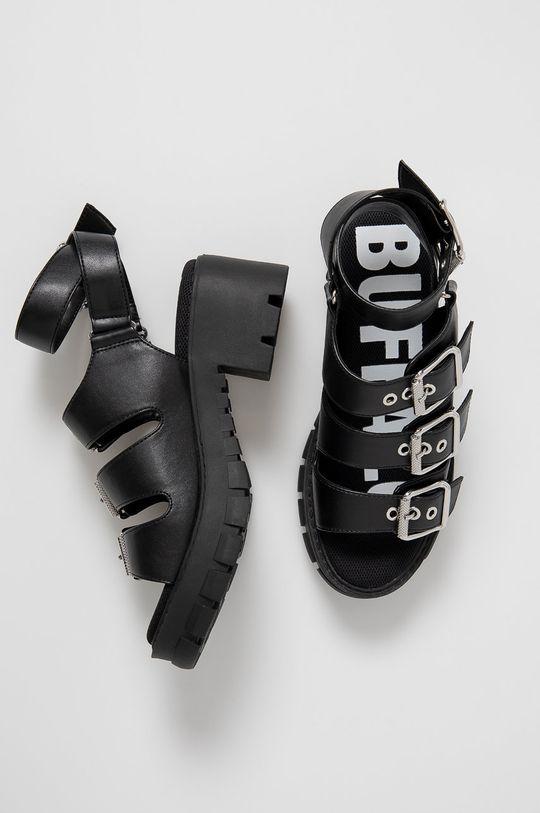 čierna Buffalo - Sandále Raja
