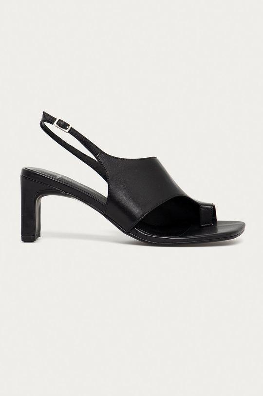 čierna Vagabond - Kožené sandále Luisa Dámsky