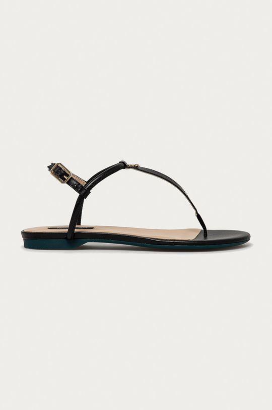 čierna Patrizia Pepe - Kožené sandále Dámsky
