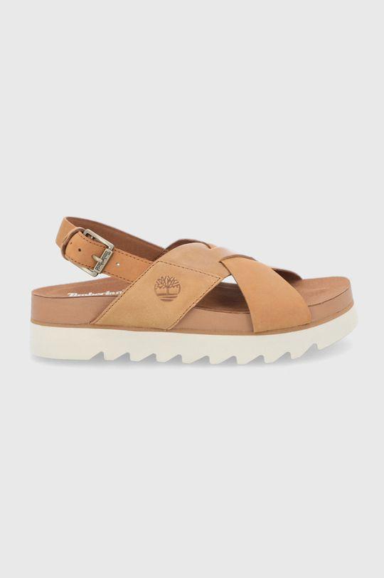 hnědá Timberland - Kožené sandály Santa Monica Dámský
