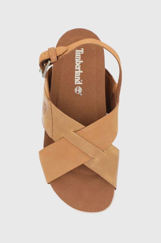 hnědá Timberland - Kožené sandály Santa Monica