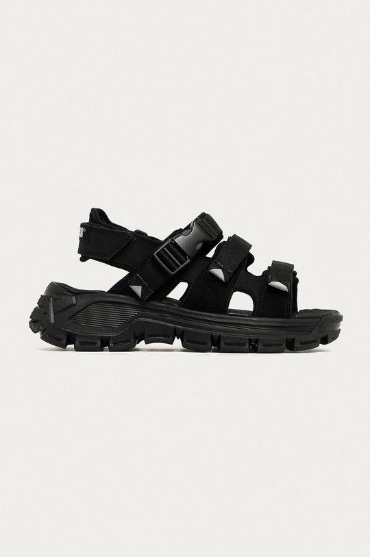 černá Caterpillar - Kožené sandály P724527 Progressor Buckle D Dámský