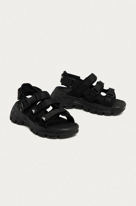Caterpillar - Kožené sandály P724527 Progressor Buckle D černá