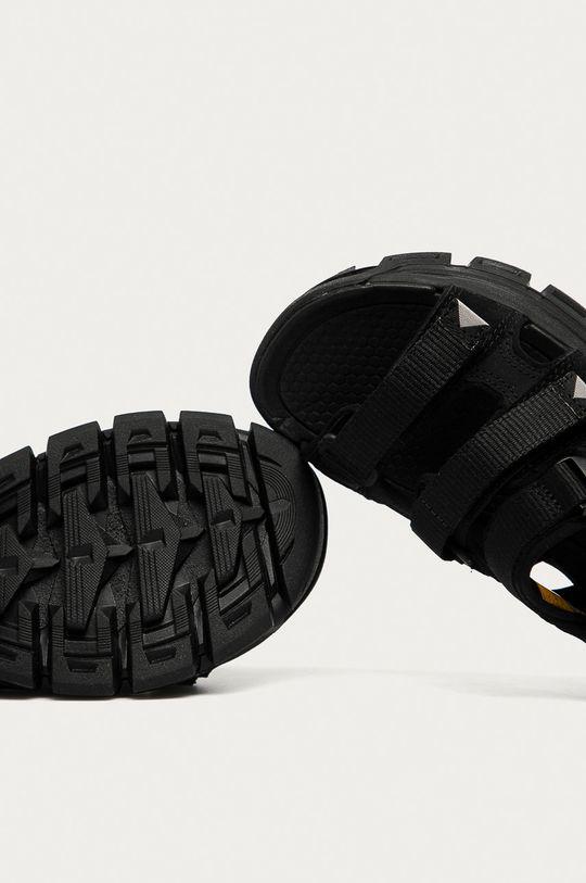 černá Caterpillar - Kožené sandály P724527 Progressor Buckle D