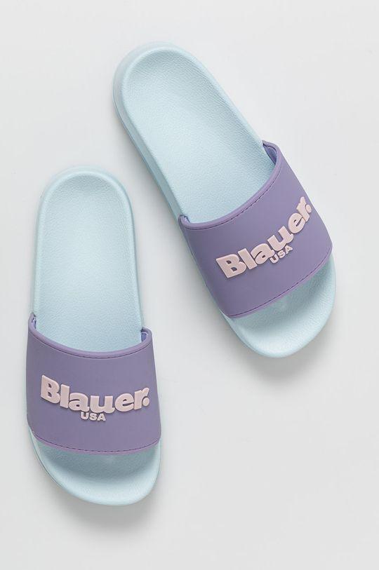 svetlomodrá Blauer - Šľapky