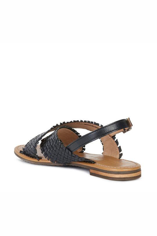 czarny Geox - Sandały skórzane