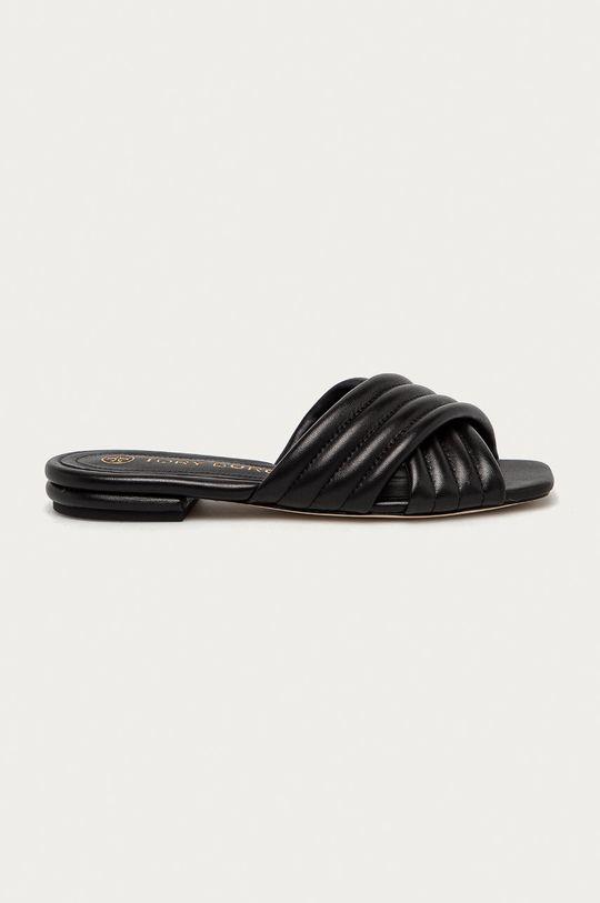 černá Tory Burch - Kožené pantofle Dámský