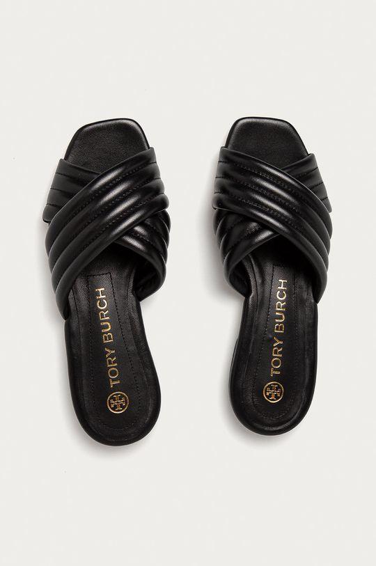 černá Tory Burch - Kožené pantofle