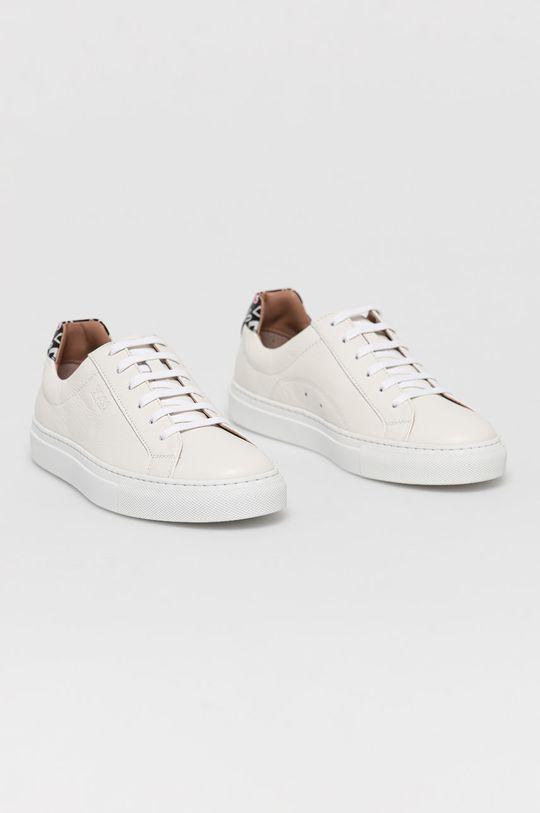 Boss - Buty skórzane biały