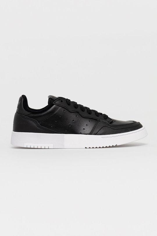 černá adidas Originals - Kožené boty Supercourt Dámský