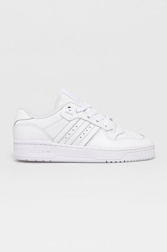 bílá adidas Originals - Kožené boty Rivalry Dámský