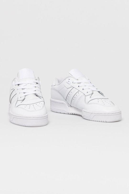 adidas Originals - Kožené boty Rivalry bílá