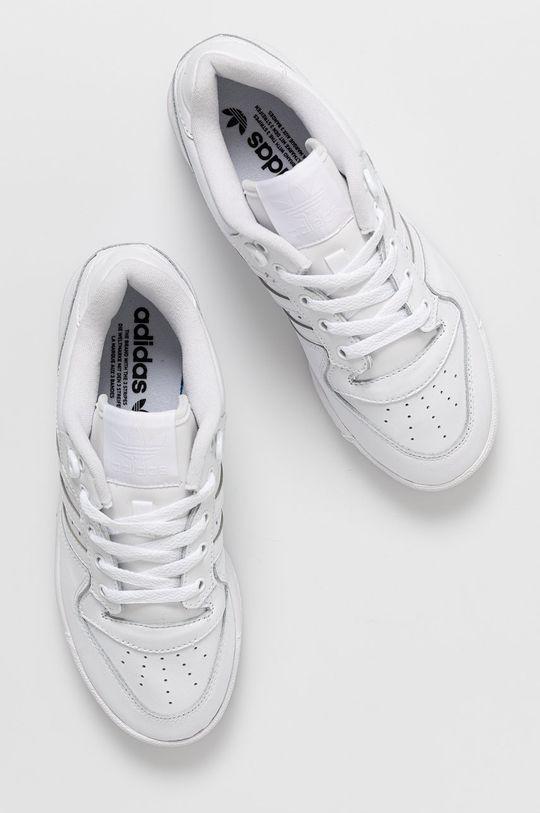 bílá adidas Originals - Kožené boty Rivalry