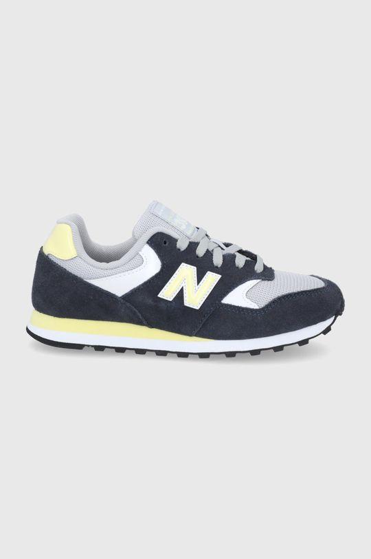 tmavomodrá New Balance - Kožená obuv WL393VS1 Dámsky