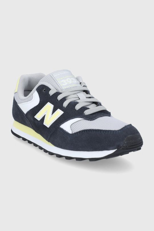 New Balance - Kožená obuv WL393VS1 tmavomodrá
