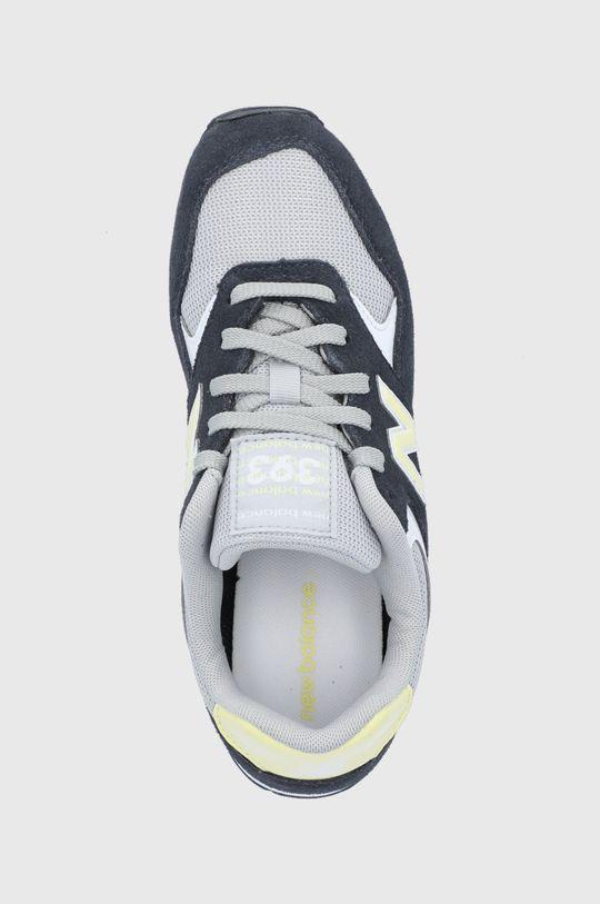 tmavomodrá New Balance - Kožená obuv WL393VS1