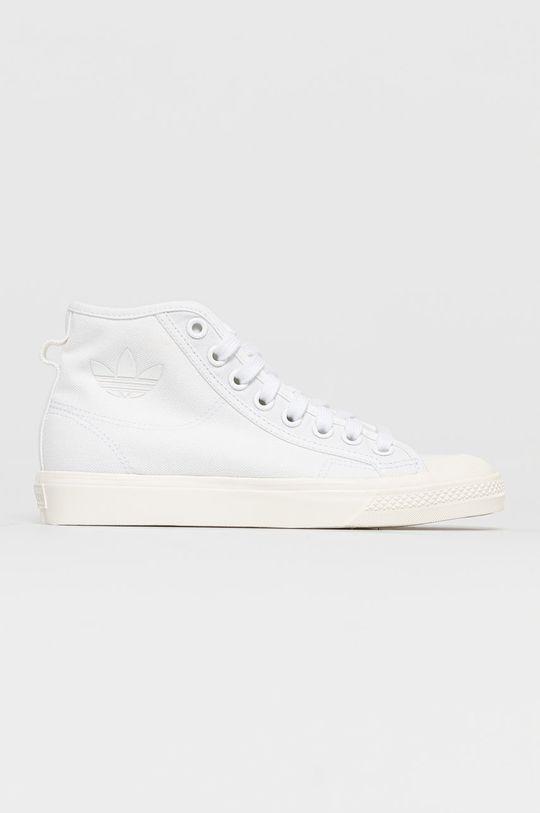 bílá adidas Originals - Kecky Nizza Hi Dámský