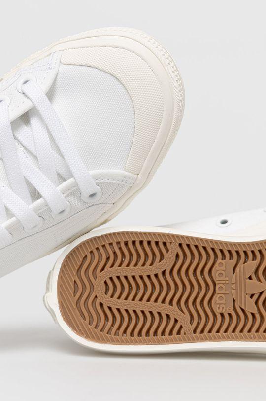 bílá adidas Originals - Kecky Nizza Hi
