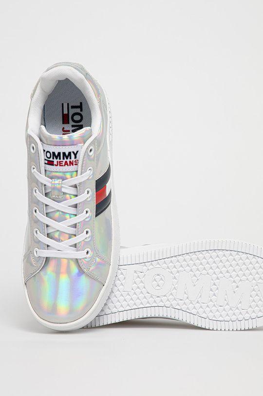 srebrny Tommy Jeans - Buty