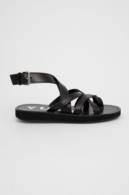 černá BIMBA Y LOLA - Kožené sandály Dámský