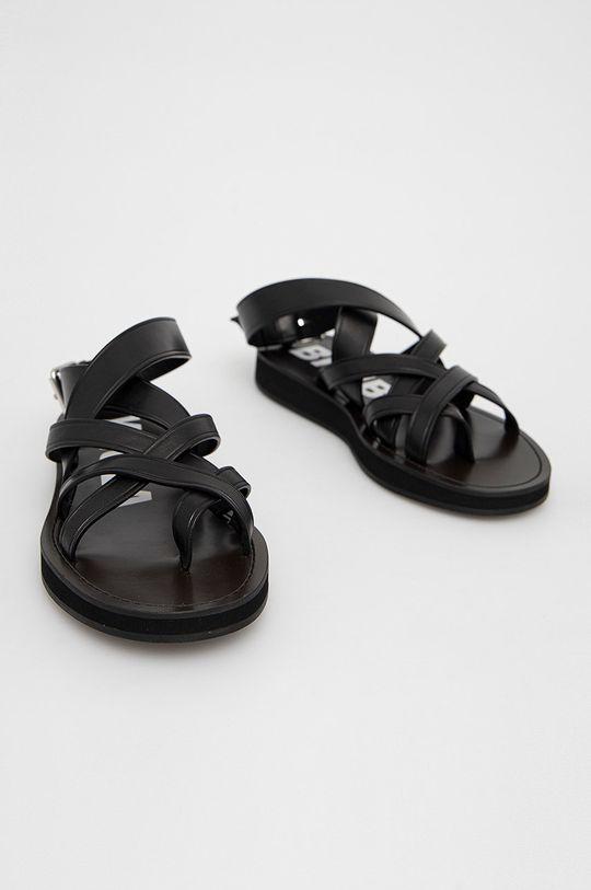 BIMBA Y LOLA - Kožené sandály černá