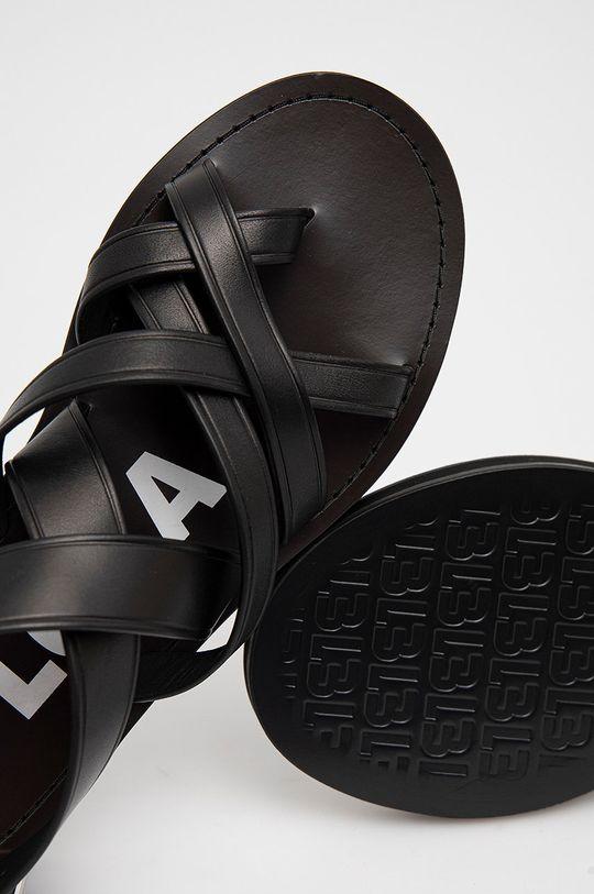 černá BIMBA Y LOLA - Kožené sandály
