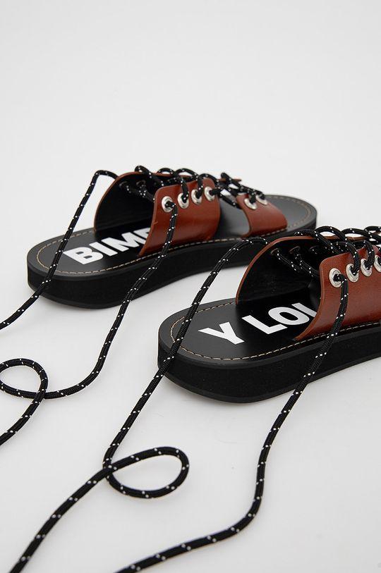 BIMBA Y LOLA - Kožené sandály  Svršek: Přírodní kůže Vnitřek: Umělá hmota, Přírodní kůže Podrážka: Umělá hmota