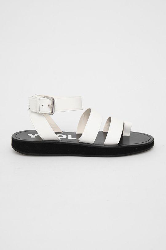 bílá BIMBA Y LOLA - Kožené sandály Dámský
