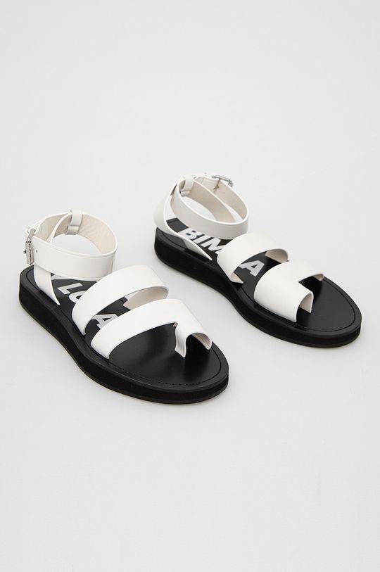BIMBA Y LOLA - Kožené sandály bílá