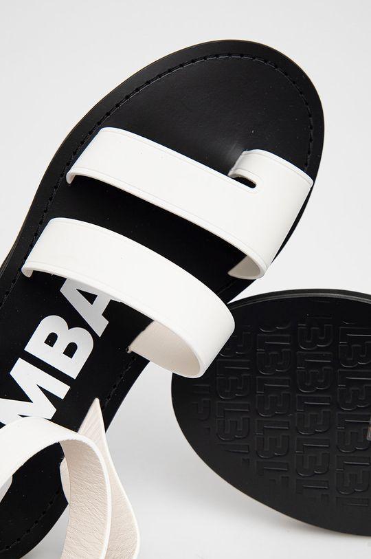 bílá BIMBA Y LOLA - Kožené sandály