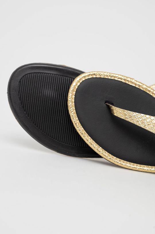 zlatá Sisley - Sandály
