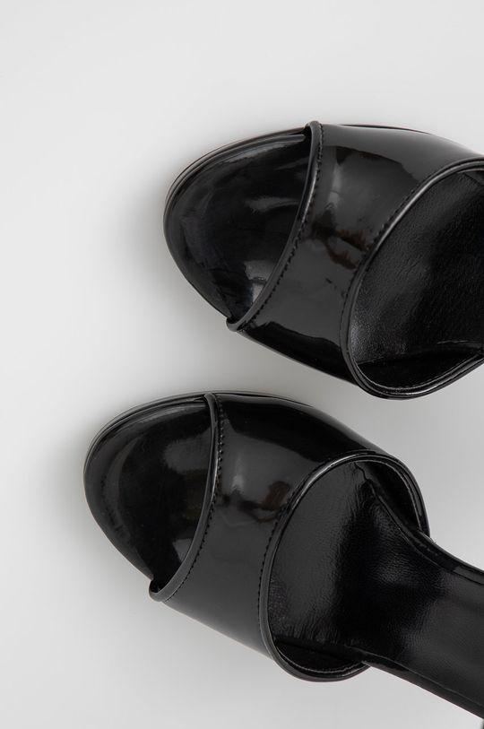 czarny Sisley - Sandały