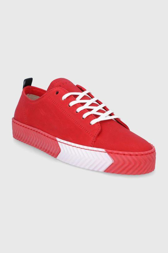 Sisley - Kožená obuv červená