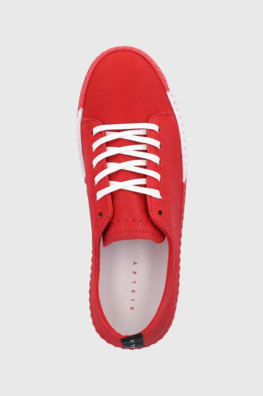 červená Sisley - Kožená obuv